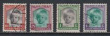 Luxembourg Scott B45-B48 1931 Princess Alix Semi-Postal Set to 1¼fr SCV $73.60