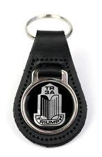 Triumph TR3A Grille Logo Quality Black Leather Keyring