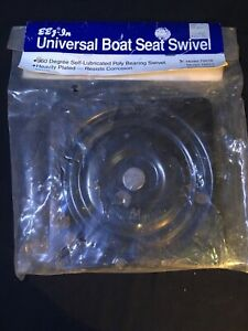 Boat Seat Swivel 360º Universal Chair Base Zero Degree Tilt Black Powder Coated