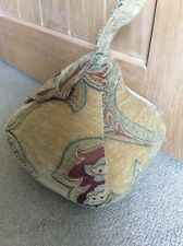 New Handmade large pear door stop upholstery fabric leaf home decoration leaf