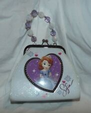 Disney Sofia Purse 6 in. x 7 in. white and purple