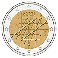 FINLAND 2020. 100 YEARS OF THE UNIVERCITY OF TURKU. 2 EURO BU COIN.UNC!