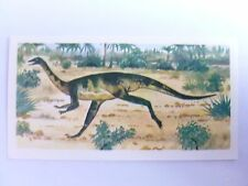 Brooke Bond Prehistoric Animals tea card 14. Ornithomimus. Dinosaurs.
