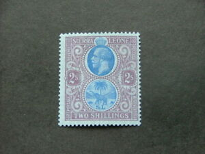 Sierra Leone KGV 1912 2/- blue & purple on blue SG125 MM
