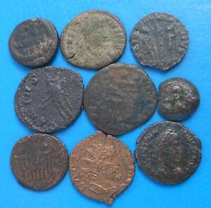 LOT de 9 monnaies romaines