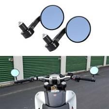 """Round End Bar 7/8"""" Mortorcycle Mirrors For Yamaha XSR900 Honda Ducati Kawasaki F"""