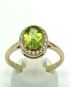 Ring  Peridot & Topas  375er  Gold  # 54