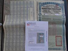 China 1913 Lung Tsing U Hai Railway Bond Super Petchil passco chinese pass-co