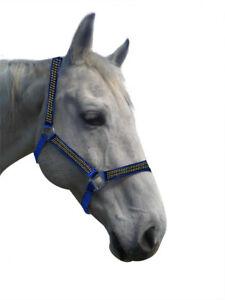 Aurora Diamonte Horse Headstall Halter Pony Cob Full 3 Colours