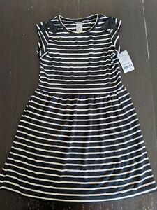 NWT Carters Black/White Striped Super Soft Bamboo Blend Dress 5T Macy's