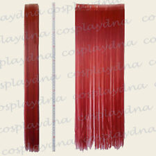 "Dark Red Hair Weft Extention (3 pieces) - 40"" High Temp - Cosplay DNA Wig 8DDR"