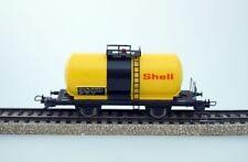 Vagones de mercancías de escala H0 analógicos color principal amarillo para modelismo ferroviario