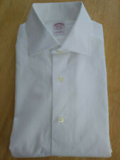 Brooks Brothers White Classic Cotton Dress Shirt 15.5-34 Slim  MSRP $92