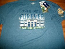 Notre Dame Football 2014 The Shirt 25th Yr Forever We Are ND Blue T-Shirt Sm
