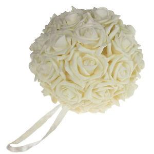 Soft Touch Foam Kissing Balls Wedding Centerpiece, 7-Inch