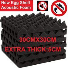 12~48PCS 5CM Acoustic Wall Panel Tiles Studio Soundproof Insulation Foam Pads