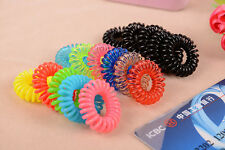 10pc Mix Elastic Telephone line hair ring Hair Tie Rope Ponytail Holder Fashion