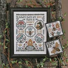 Prairie Schooler Counted Cross Stitch  Where There Are Bees #193