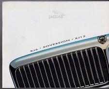 Jaguar XJ X300 1994-95 UK Market Sales Brochure XJ6 Sovereign XJ12