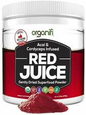 Organifi 9.5 oz Red Juice Acai and Cordyceps Infused Gently Dried Superfood...