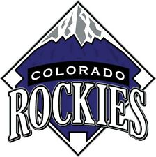 12 STICKERS  Colorado Rockies Baseball Vinyl Car Bumper Window laptop wall Decal