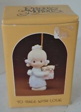 Precious Moments Porcelain Figure 1983 To Thee With Love Ornament With Box