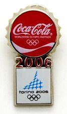 Pin Spilla Olimpiadi Torino 2006 - Coca-Cola Tappo Torino