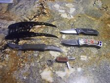 COLLECTION OF HUSKY PRO FOLDING UTILITY KNIVES ,BLADES ETC ALL NEW