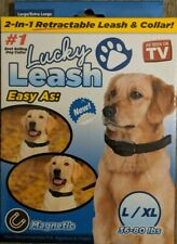 2-in-1 Retractable Leash & Collar- Large/X-Large Lucky Leash For 36-80 Pound Dog