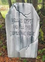 Hell is... Authentic Handmade Halloween Tombstone Prop Halloween Decor Yard Art
