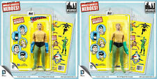 "Exclusive set of 2 ""FRANKEN-AQUAMAN"" Mego Retro figures on Overstock Cards"