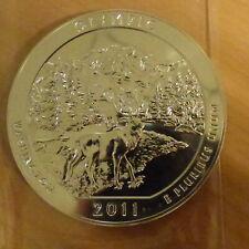 "US Quarter Dollar 2011 Olympic Park ""America the Beautiful"" 5 oz silver 99.9%"
