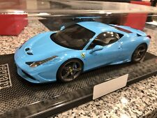 MR Collection 1:18 Ferrari 458 Speciale Baby Blue