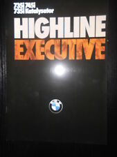 Original Prospekt Sales Brochure BMW Highline Executive 735i 745i 735i Technisch