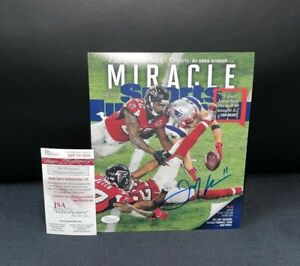JULIAN EDELMAN NEW ENGLAND PATRIOTS SIGNED 8X10 PHOTO JSA WITNESS COA COVER ONLY
