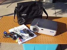 EPSON POWERLITE 50C EMP-50 LCD PROJECTOR + CASE REMOTE 384 LAMP HOURS BUNDLE