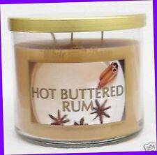 1 Bath & Body Works White Barn HOT BUTTERED RUM 3-Wick Large Candle 14.5 oz Jar