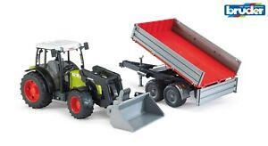 Bruder 02112 Claas Nectis Traktor Frontlader Anhänger Trecker Kipper 2112 Neu