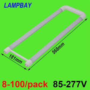 8-100/pack U Shaped LED Tube Bulb 2ft 20W U bend G13 Fluorescent Lamp 110V 277V