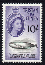 Tristan Da Cunha 10/- Stamp c1960 Mounted Mint (hinged)