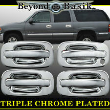 2002-2006 CADILLAC ESCALADE AVALANCHE Chrome Door Handle COVERS W/o Psgr Keyhole