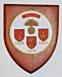 Belgian 3rd Battalion Military Police mess plaque 3e Bataillon Police Militaire