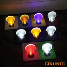 New Slice Portable Pocket Wallet Credit Card Size LED Night Light Lamp Bulbs Lxt