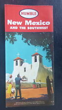 1956 New Mexico road  map  Humble  oil gas oil route 66 Southwest