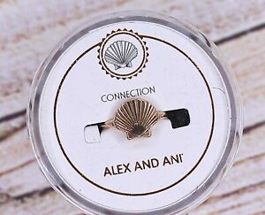 NEW NIB Alex and Ani Connection Seashell Rose Gold Ring