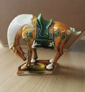 Small Chinese Glazed Tang Horse