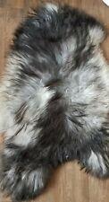 Genuine   ICELANDIC Sheepskin Real Fur Rug BLACK @SILVER@WHITE   JUN