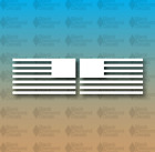 "AMERICAN Flag No Stars America Stripes SET OF 2 5"" Custom Vinyl Decal"
