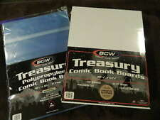 100 New BCW Resealable Treasury Bags And Boards - Acid Free - Archival Storage