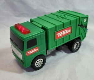 Tonka Truck Green Bin Lorry Garbage Recyling Vehicle Plastic Lights Sound 2008